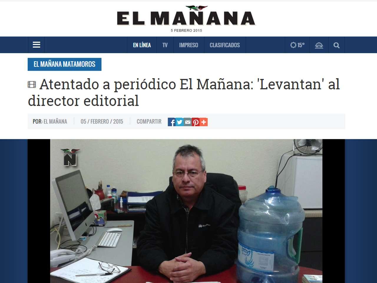 Un grupo armado irrumpió ayer en instalaciones del diario El Mañana ...