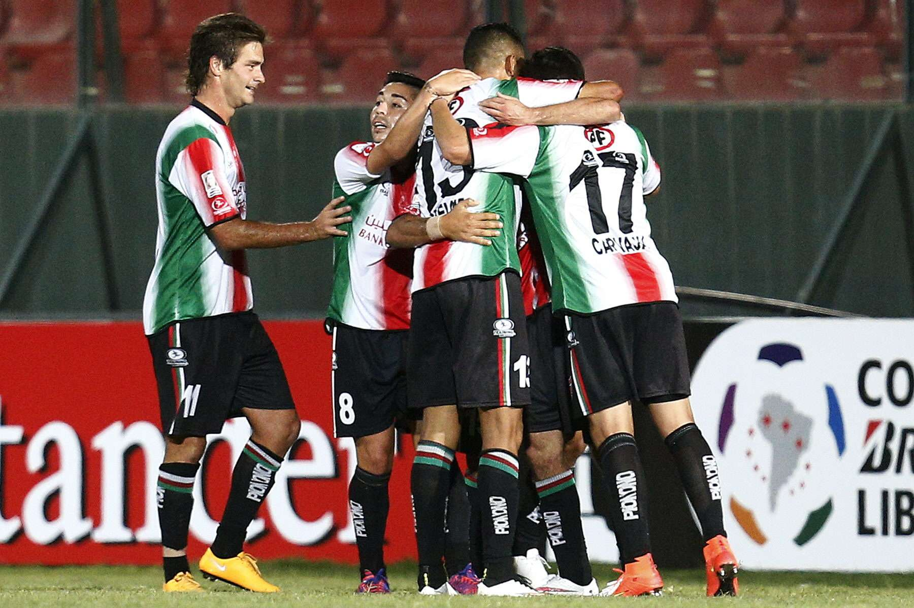 Palestino supera Nacional do Uruguai nesta quinta-feira Foto: Felipe Trueba/EFE