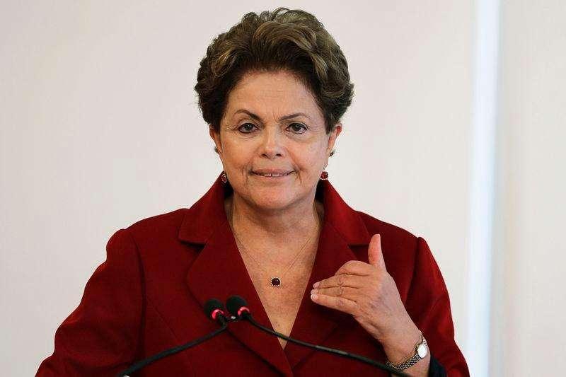 La presidenta de Brasil, Dilma Rousseff, durante una ceremonia en el Palacio de Planalto el 5 de febrero. Foto: Ueslei Marcelino/Reuters