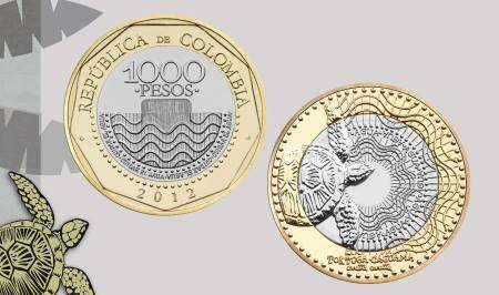 Monedas de 200 pesos. Foto: Banco de la República de Colombia/Facebook