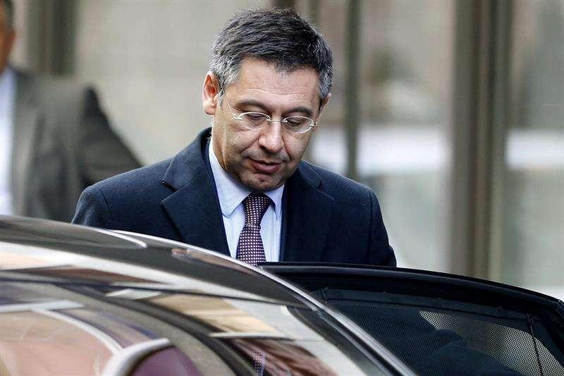 El presidente del FC Barcelona, Josep Maria Bartomeu, a su salida de la Audiencia Nacional Foto: EFE