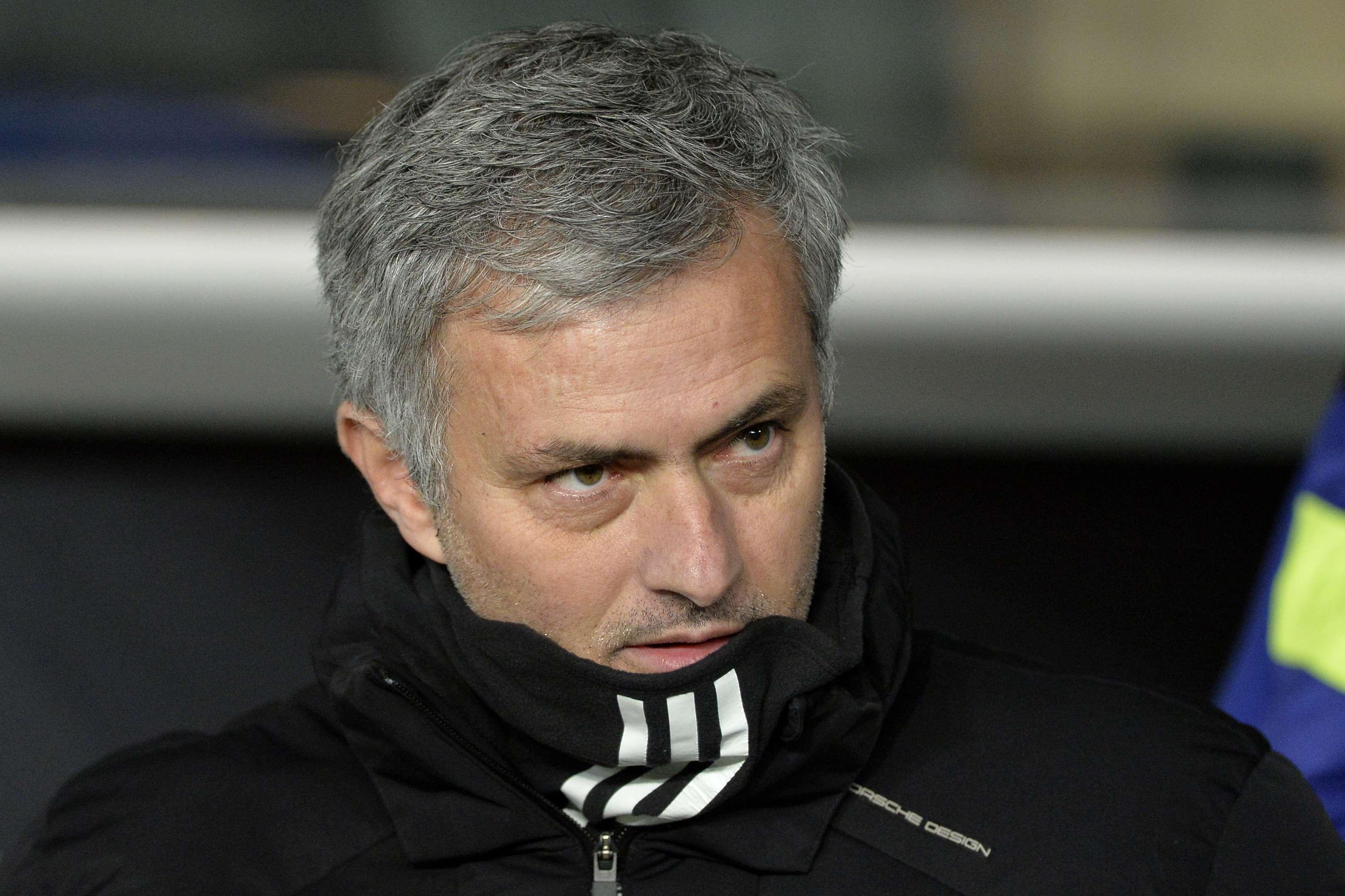 José Mourinho comemorou empate no Parque dos Príncipes Foto: Miguel Medina/AFP