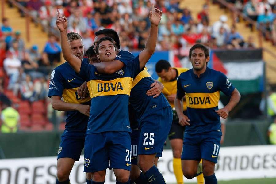 Boca Juniors viajó a Santiago para derrotar por 2-0 al sorprendente Palestino en lo que significó el debut de ambos en el Grupo 5 de la Copa Libertadores 2015. Foto: Agencia UNO