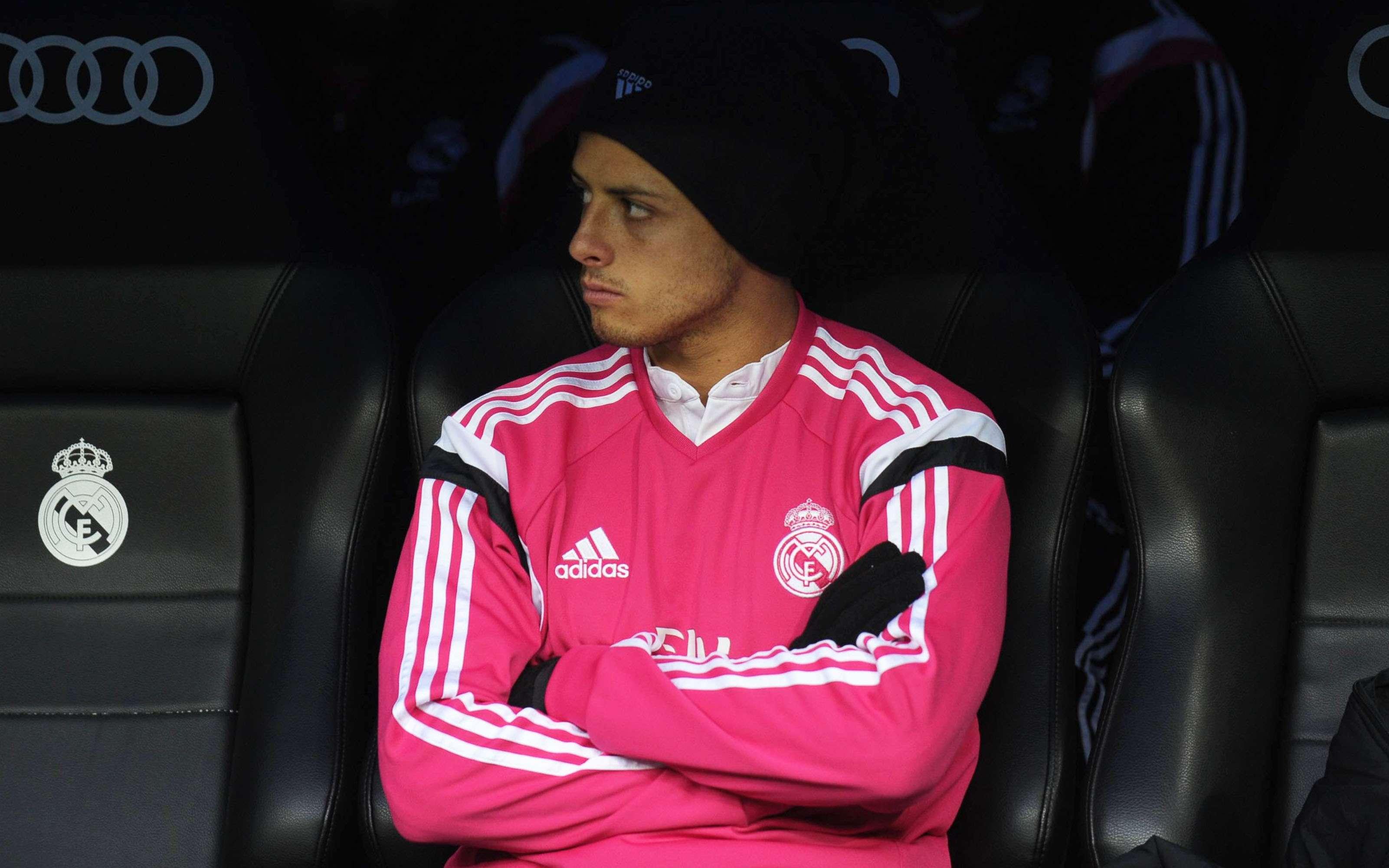 Javier Hernández ha tenido pocos minutos con Real Madrid en el 2015. Foto: Mexsport