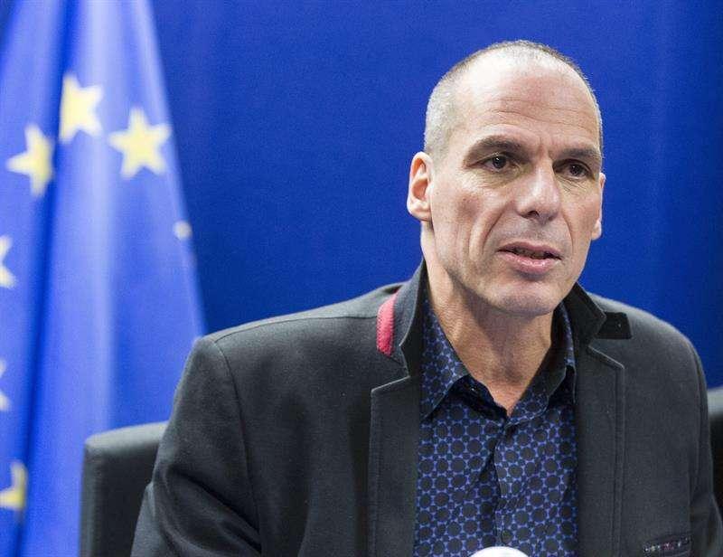 El ministro de Finanzas de Grecia, Yanis Varufakis, en la reunión del Eurogrupo esta semana Foto: EFE