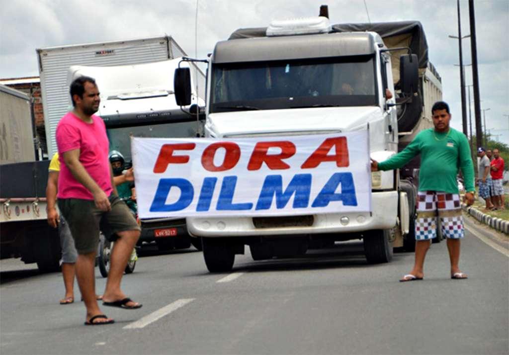 Faixa é exibida durante paralisação na Bahia Foto: Ed Santos/Acorda Cidade