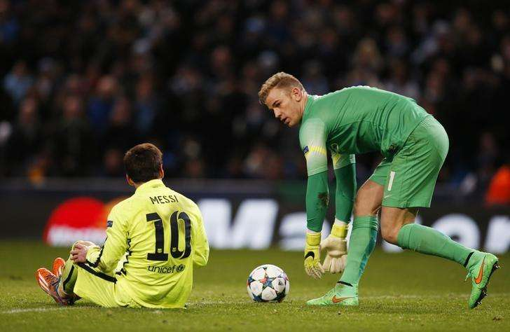 Barcelona's Lionel Messi after having his penalty saved by Manchester City's Joe Hart Reuters / Phil Noble Livepic. Foto: Reuters