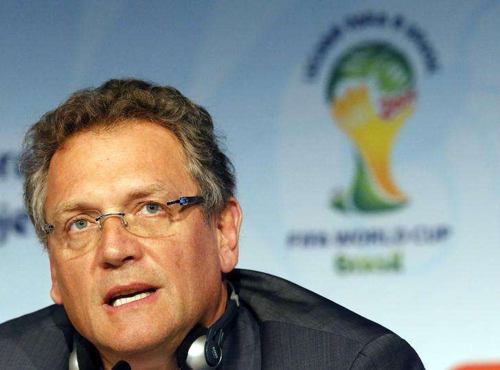FIFA Secretary General Jerome Valcke addresses a news conference regarding the legacy of the 2014 Brazil World Cup in Sao Paulo January 20, 2015. Foto: Paulo Whitaker/Reuters