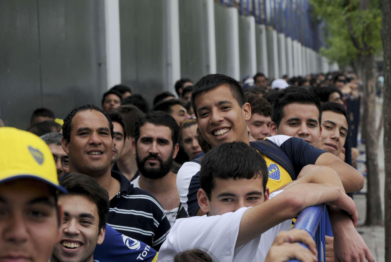 Los hinchas de Boca, ansiosos por el debut de Osvaldo. Foto: Noticias Argentinas