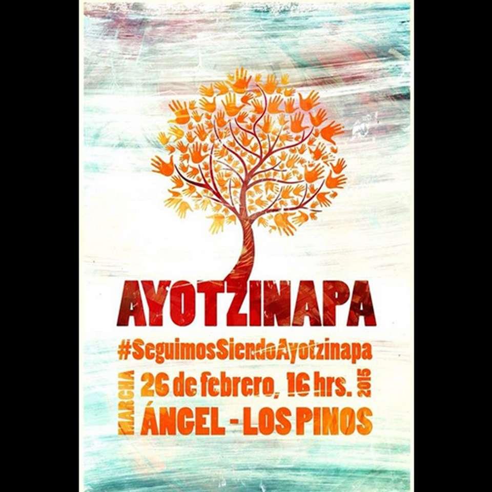 """A cinco meses de la desaparición de los 43 estudiantes de la Normal Rural """"Raúl Isidro Burgos"""", en México y el mundo se realizan diversas actividades en la 9ª Acción Global por Ayotzinapa. Foto: @Global132"""
