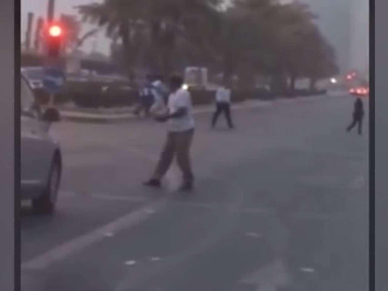 El incidente ocurrió el 11 de febrero pero hasta ahora se publicó el video Foto: YouTube