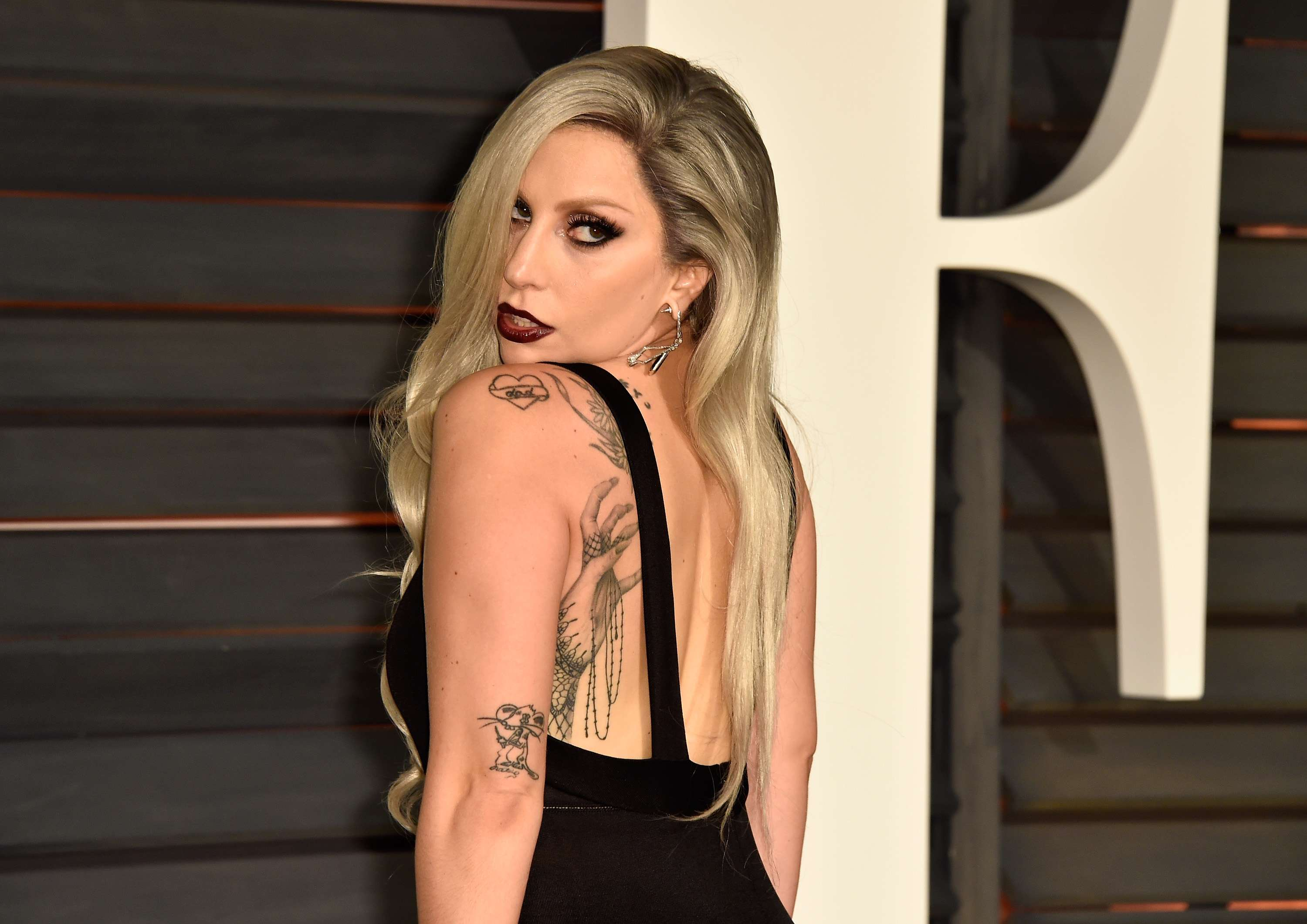 Lady Gaga en la fiesta post-Oscar 2015 Foto: Getty
