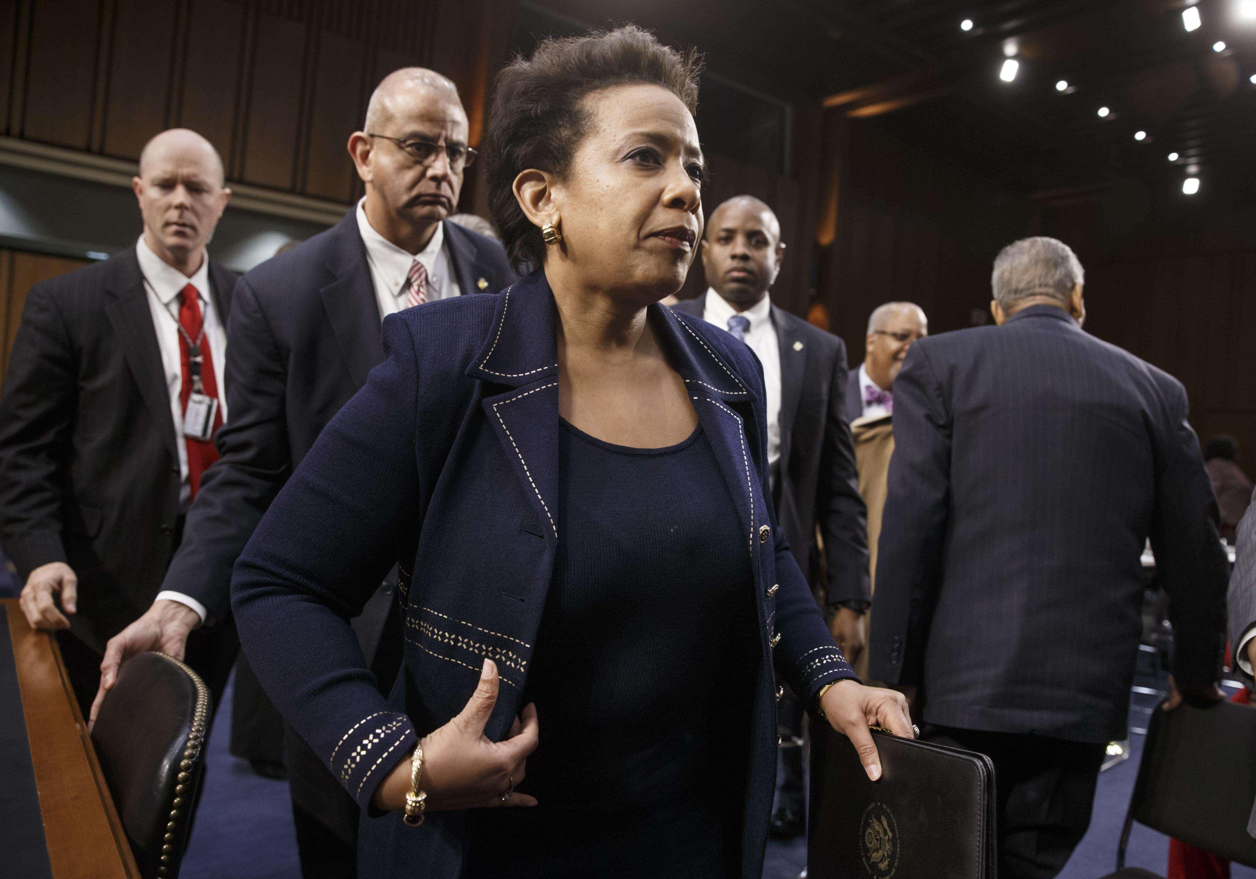 Loretta Lynch, nominada por el presidente Barack Obama al cargo de secretaria de Justicia, en sustitución de Eric Holder. Foto: AP en español