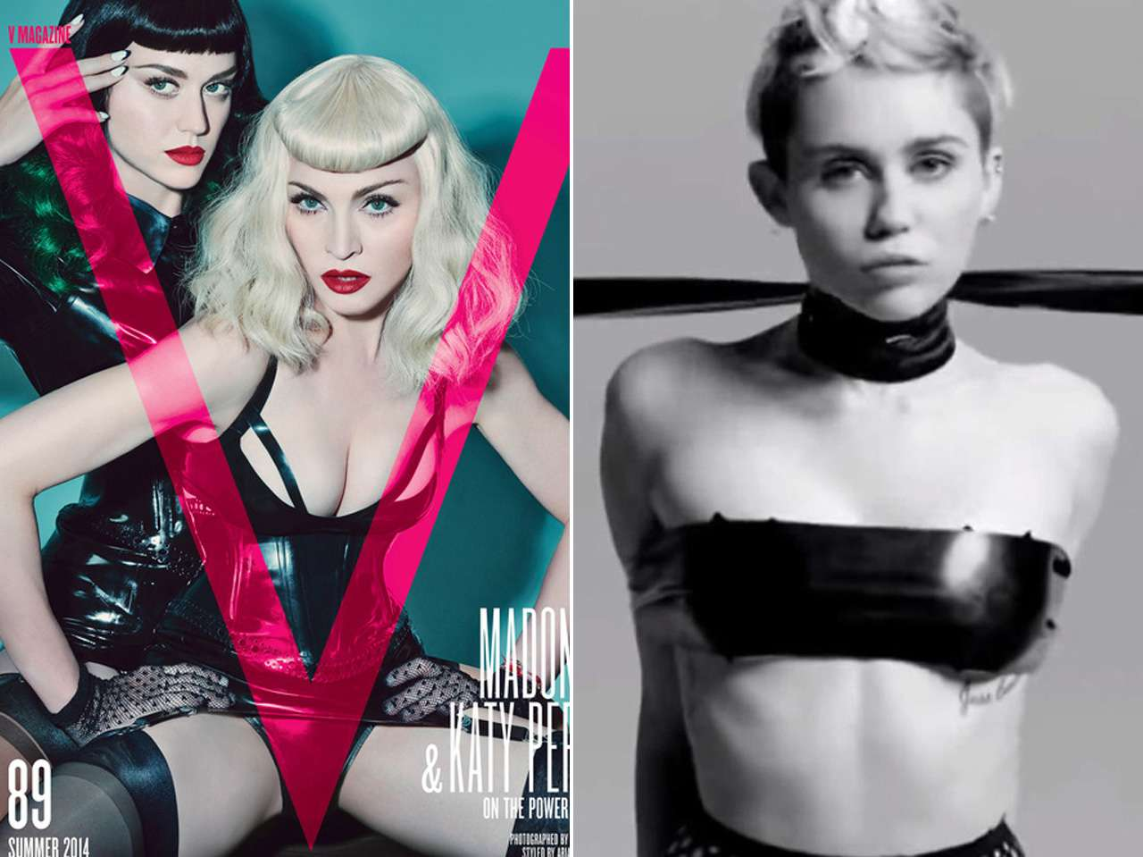 Katy Perry, Madonna y Miley Cyrus. Foto: V Magazine / You Tube