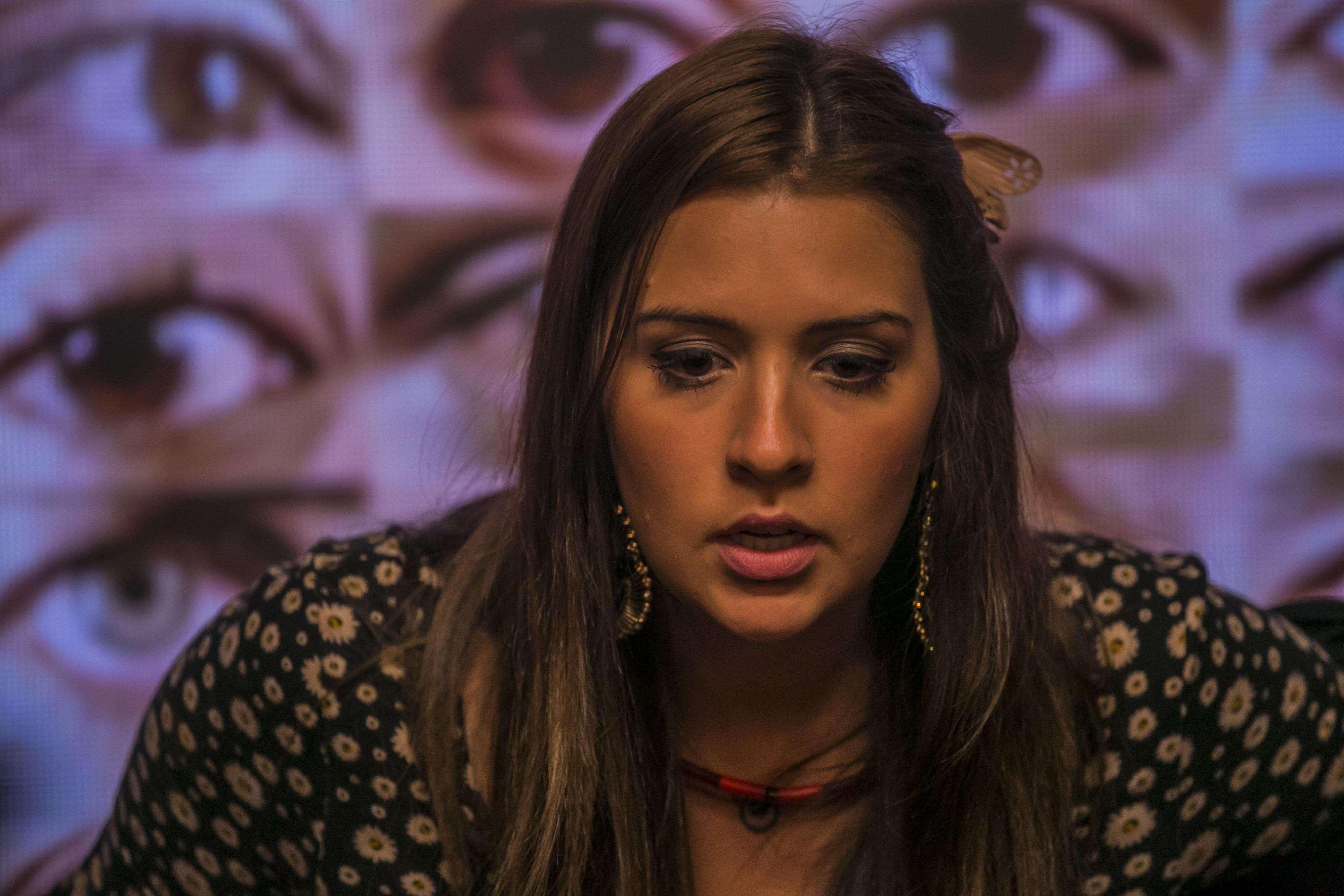 Tamires caiu no choro nesta quinta-feira (26) Foto: TV Globo/Divulgação