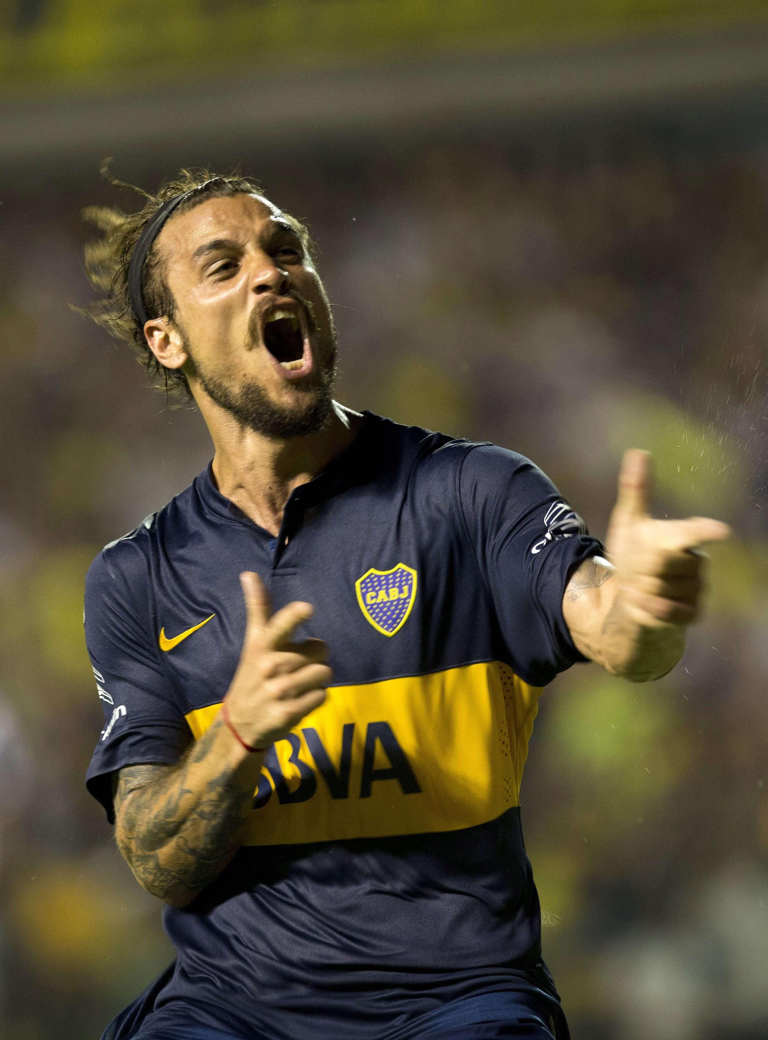 Osvaldo se estrenó como goleador del Boca Juniors. Foto: AP