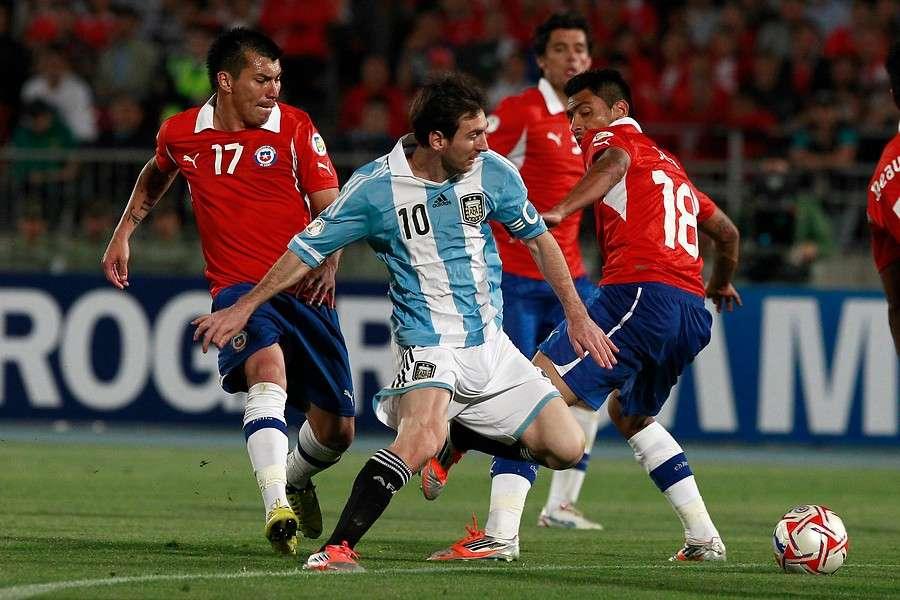 Messi dice que Chile es uno de los favoritos para ganar la Copa. Foto: Agencia UNO