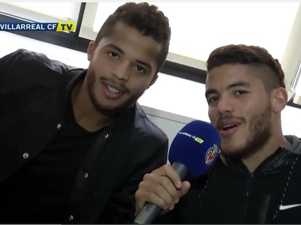 Los aficionados no creían que hablaban con los hermanos Dos Santos Foto: Villarreal TV