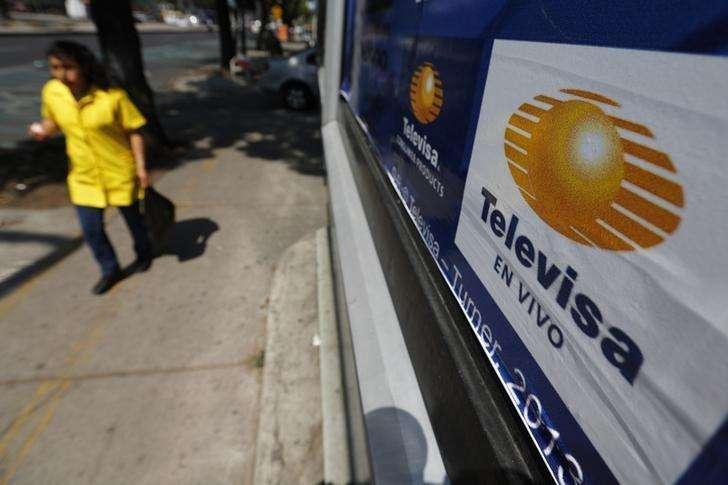 El logo de Televisa en Ciudad de México, abr 29 2014. El gigante de medios y de telecomunicaciones Grupo Televisa dijo el viernes que una largamente esperada oferta pública de acciones de la cadena de televisión estadounidense Univision, de la cual es socio, podría ocurrir en los próximos 12 a 18 meses Foto: Tomas Bravo/Reuters
