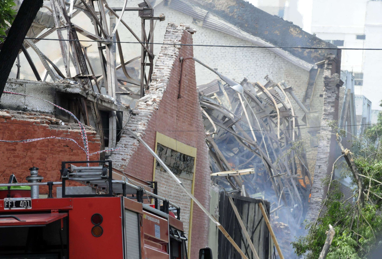 El depósito de Iron Mountain después del incendio Foto: Archivo NA