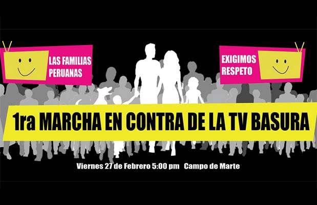 Marcha contra la TV Basura. Foto: Facebook