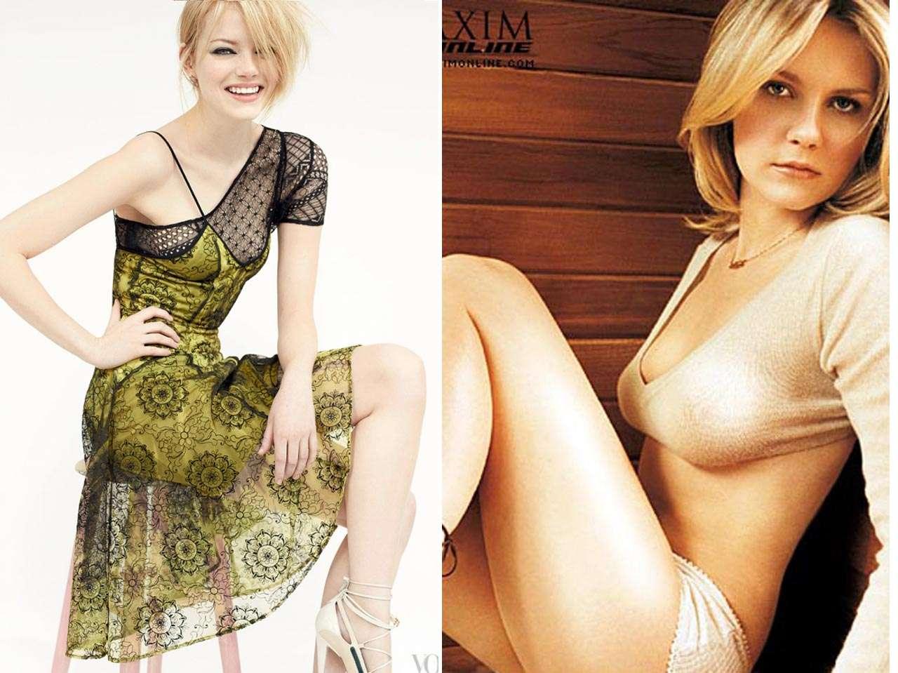 Emma Stone, Kirsten Dunst. Foto: Vogue / Maxim