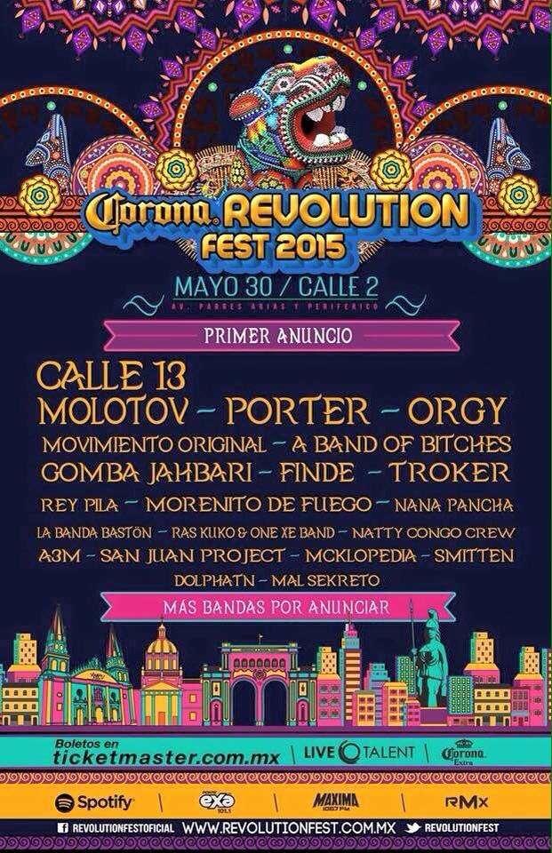 Los boletos ya están a la venta en el sistema Ticketmaster y en puntos de venta autorizados. Foto: Revolution Fest