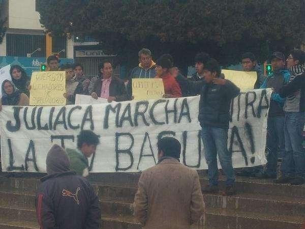 Marcha en Juliaca Foto: Twitter