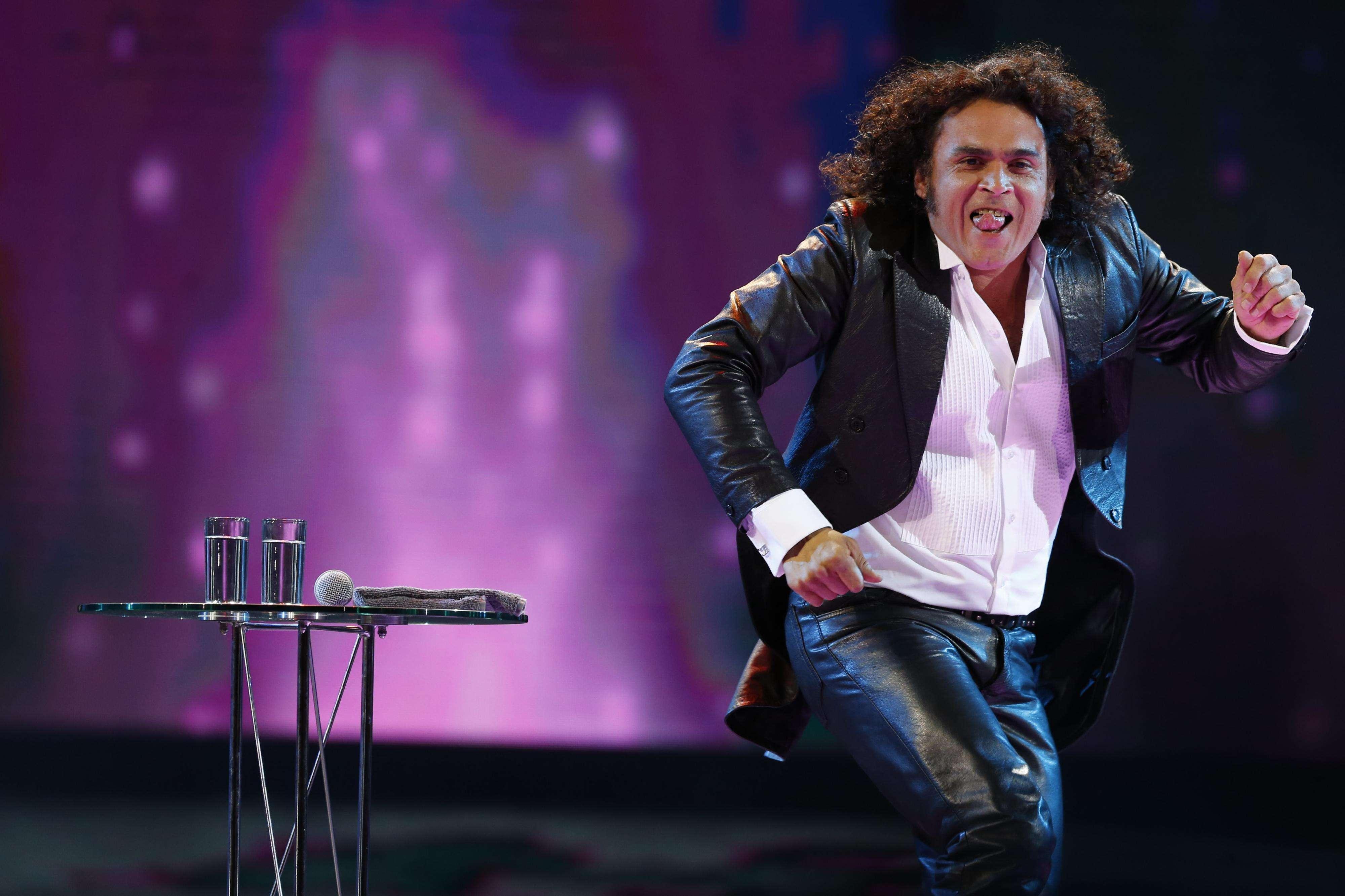 26 de Febrero de 2015: Conferencia de prensa del humorista chileno Arturo Ruiz Tagle en Viña 2015. Foto: Agencia UNO
