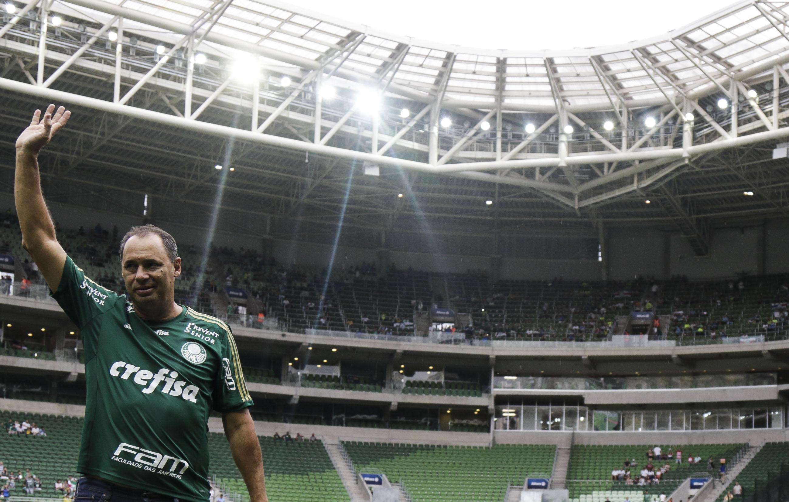 Evair foi homenageado no Allianz Parque por seus 50 anos de vida Foto: Miguel Schincariol/Gazeta Press