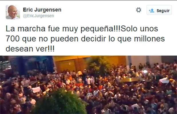 Gerente de América Televisión, Eric Jurgensen, minimiza Marcha contra TV basura. Foto: Twitter