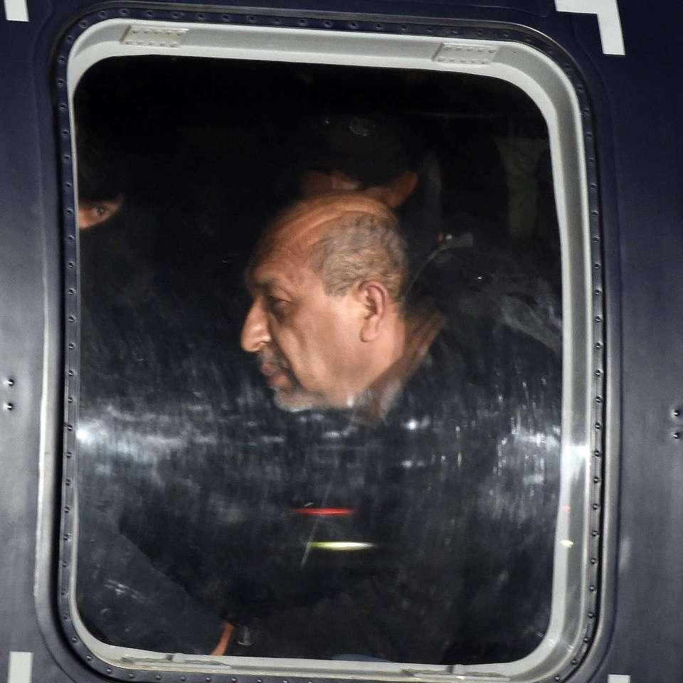 Así presentaron a 'La Tuta' ante los medios de comunicación Foto: AFP en español