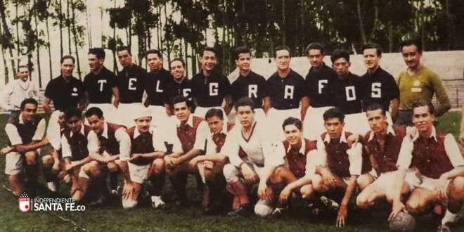 1941: Independiente Santa Fe vs Telégrafos Foto: Página Oficial Independiente Santa Fe