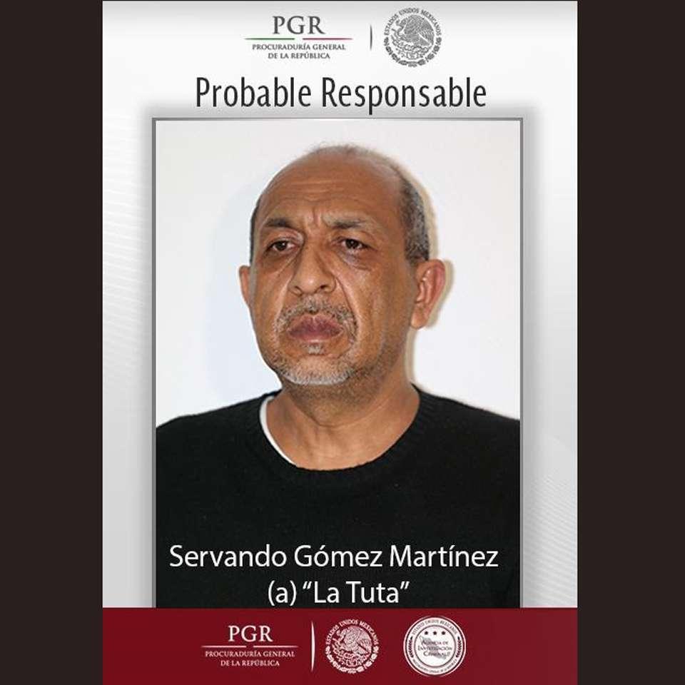 """Autoridades mexicanas informaron que un mensajero y labores de inteligencia realizadas desde septiembre de 2014, fueron claves para la captura de Servando Gómez Martínez, """"La Tuta"""", líder de Los Caballeros Templarios. Foto: PGR"""