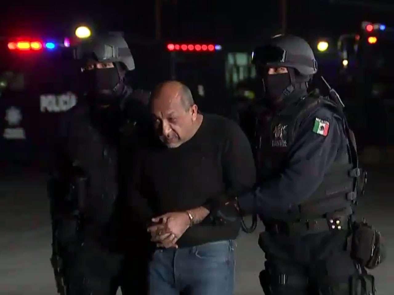 Presentación de Servando Gómez Martínez, ´La Tuta´, ante los medios de comunicación. Foto: Video PGR