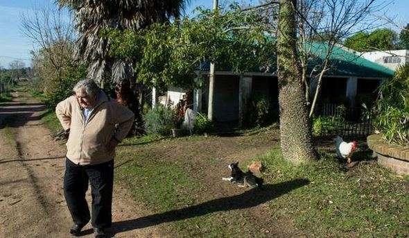 """1. """"No soy pobre, soy sobrio, liviano de equipaje, vivir con lo justo para que las cosas no me roben la libertad"""". A menudo se le dice """"el presidente más pobre del mundo"""", aunque José Mujica asegura que no es pobre, que lo que hace es vivir como la mayor parte de los uruguayos que gobierna. Foto: AFP en español"""