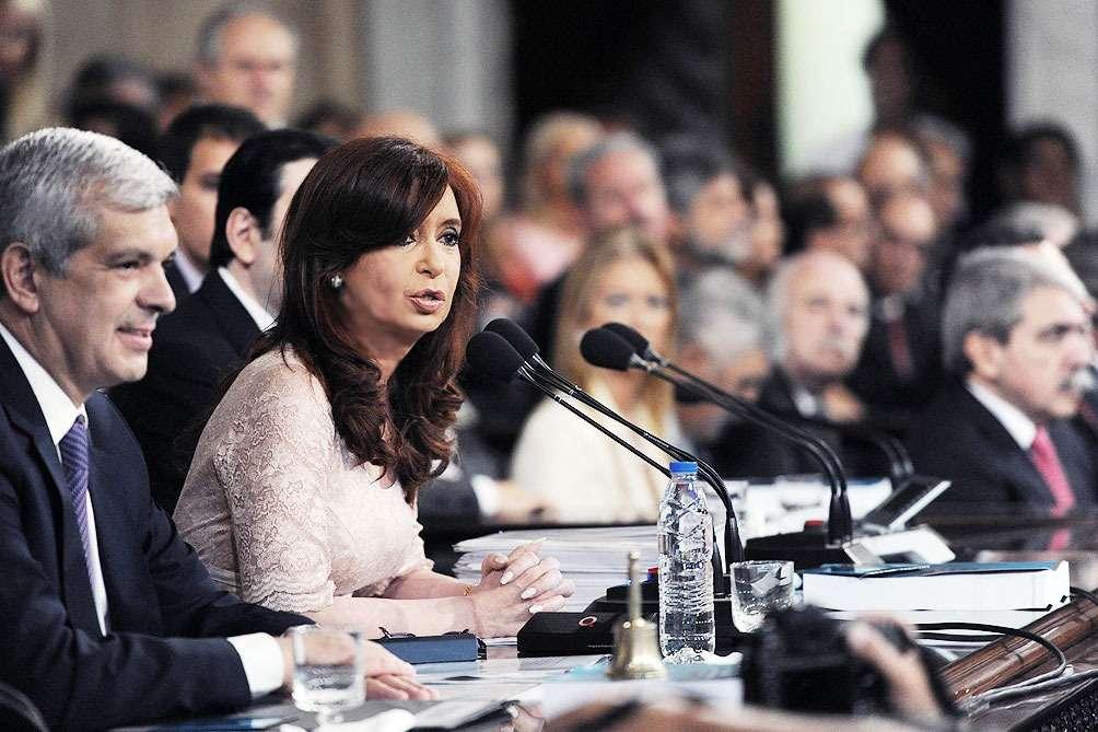 Cristina habla ante la asamblea legislativa, en VIVO Foto: Twitter Télam