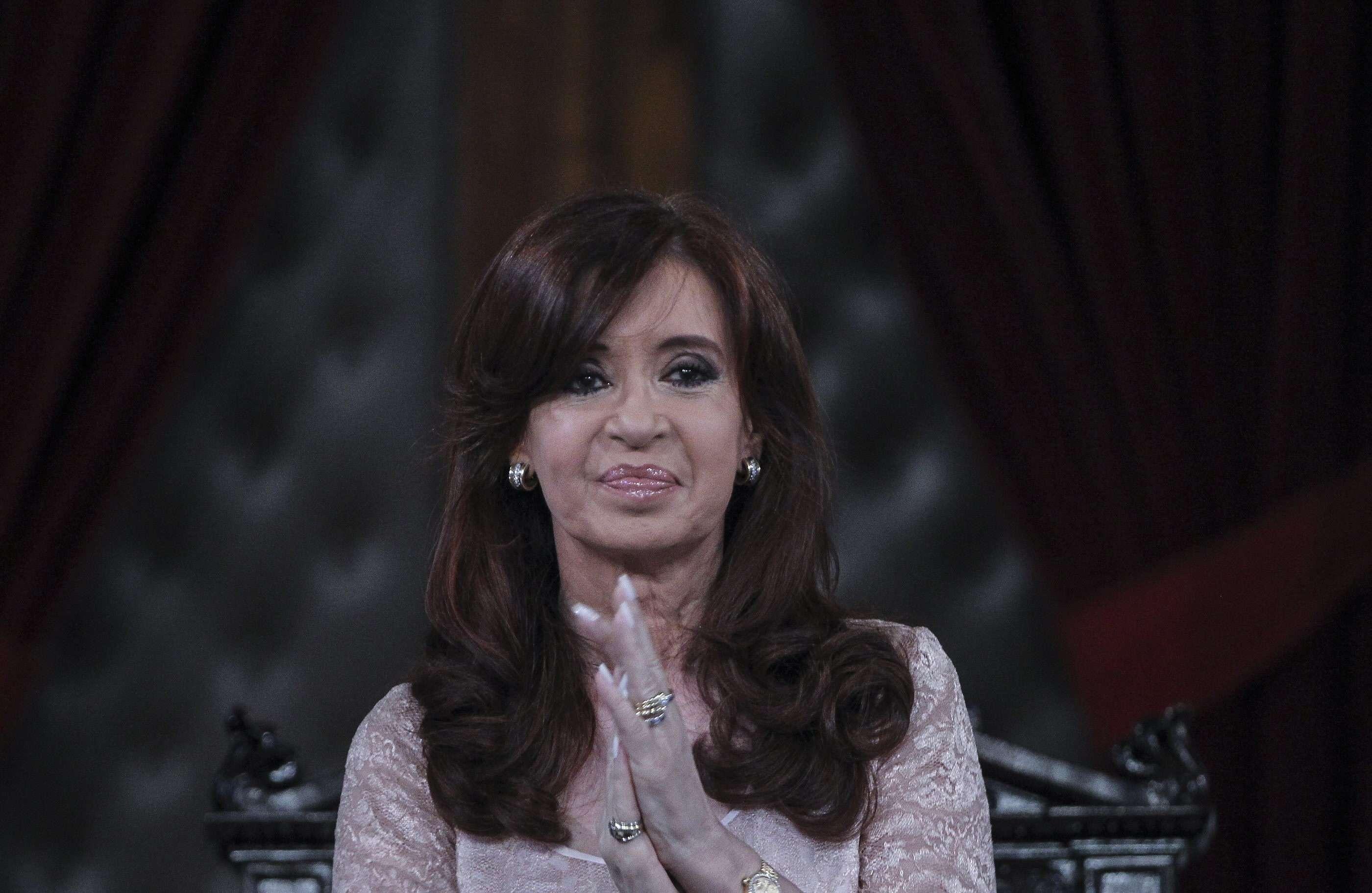 """Cristina: """"De la AMIA hablo con los familiares desde el año 96 ayudándolos y apoyándolos"""" y que también habla en Naciones Unidas """"reclamando que se haga Justicia como no lo hizo ningún presidente argentino"""". Foto: EFE"""