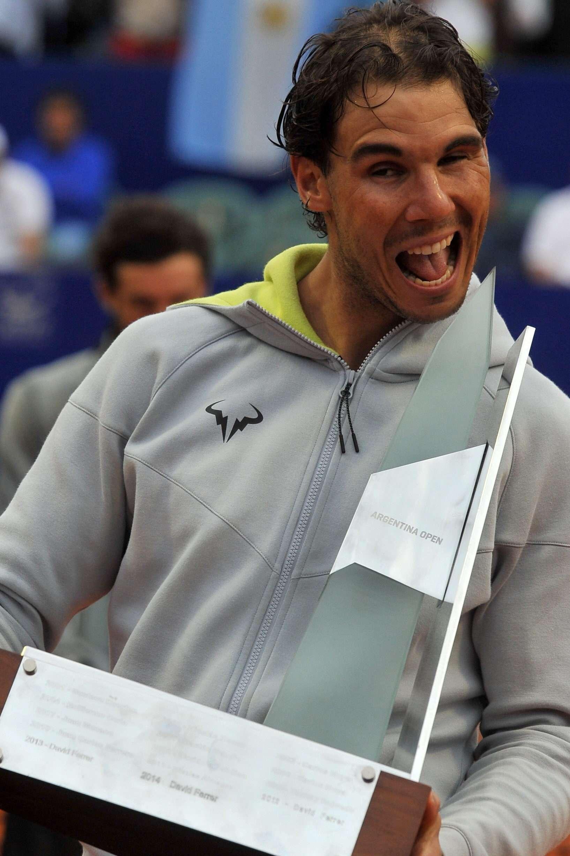 Rafa Nadal y Pico Mónaco, amigos en la vida, enfrentados en la final del Argentina Open. Foto: EFE