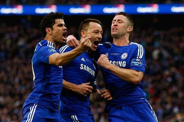 El Chelsea, de la mano de John Terry y el hispano brasileño Diego Costa, consiguió su primer título de la temporada, el sexto trofeo para sus vitrinas de la Copa de la Liga, tras superar en Wembley al Tottenham, penalizado por su falta de acierto. Foto: Getty Images