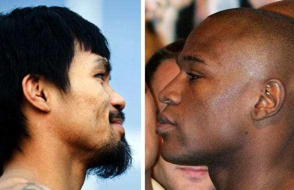 La batalla Mayweather-Pacquiao será la más millonaria en la historia del boxeo. Foto: AFP