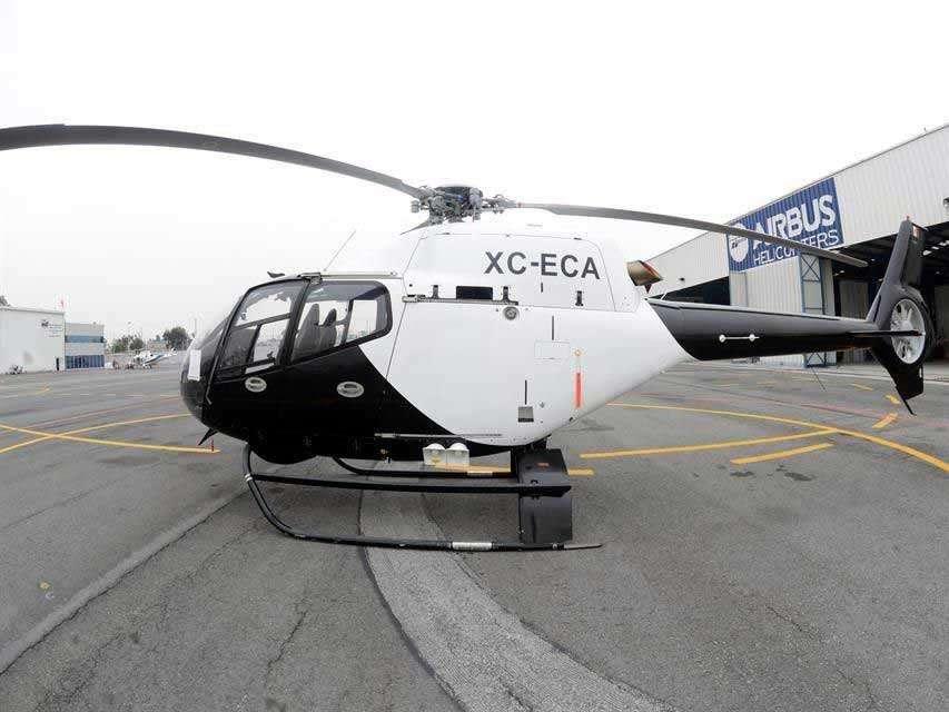 Adriana Vizcaíno, enlace de la Secretaría de Finanzas del Edomex, admitió que, desde que les fue entregado, el helicóptero no ha sido utilizado. Foto: Reforma