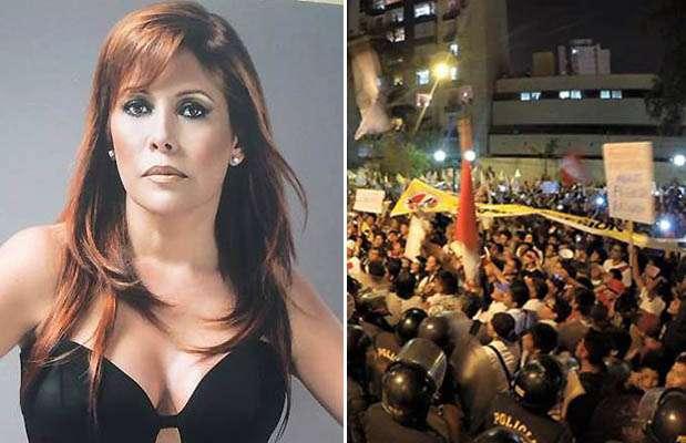Magaly Medina criticó la Marcha contra la TV basura. Foto: Facebook / Twitter