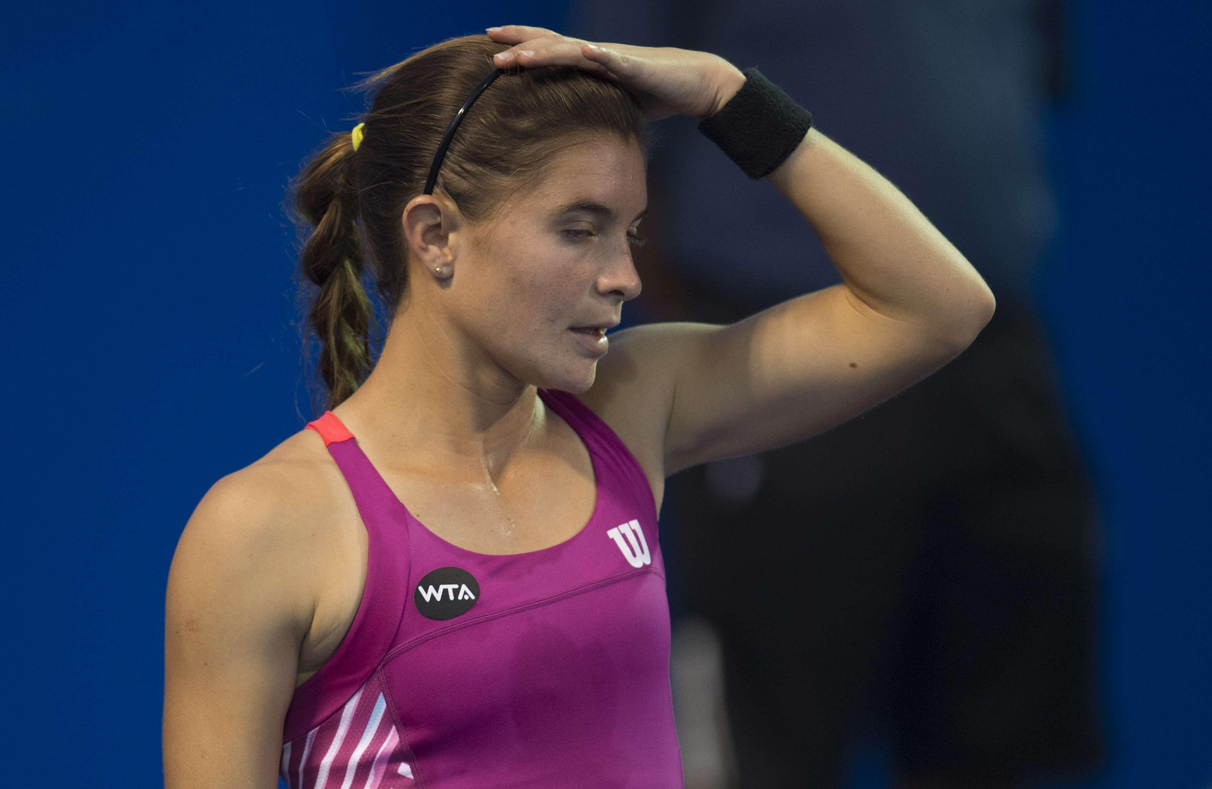 Marcela Zacarías no pudo avanzar en el Abierto de Tenis en Monterrey. Foto: Mexsport