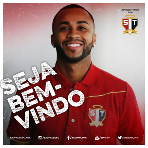 São Paulo deu boas vindas a Wesley, novo reforço Foto: Facebook/Reprodução