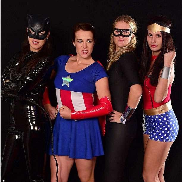 Ana Ivanovic, Anastasia Pavlyuchenkova, Kristina Mladenovic y Jovana Jaksic se divirtieron en la fiesta de bienvenida del Abierto de Monterrey. Foto: Tomada del Abierto de Tenis Monterrey