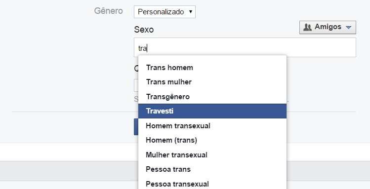 """Identidade de gênero no Facebook agora não se limita a """"masculino"""" e """"feminino"""" Foto: Facebook/Reprodução"""