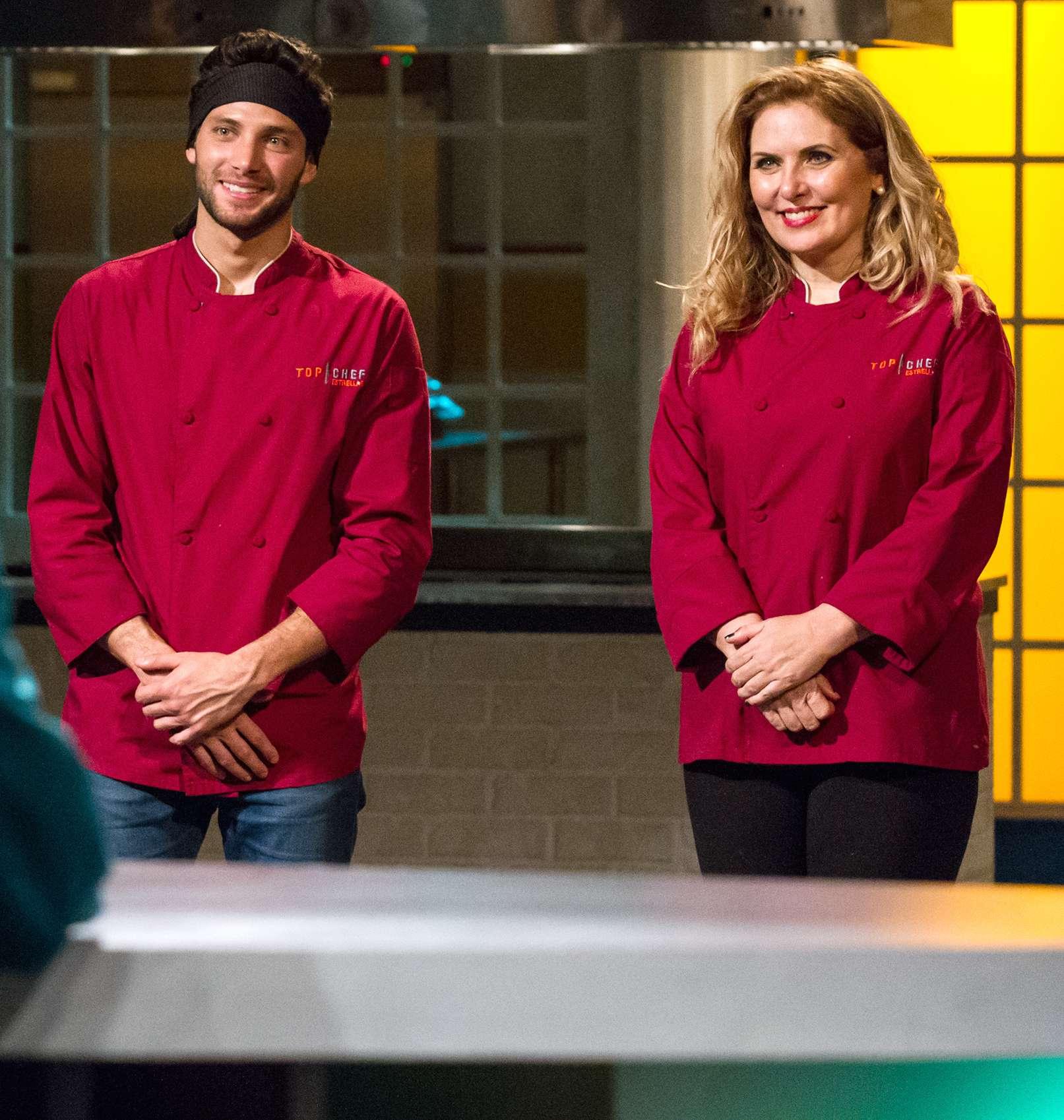 Gabriel Coronel y Judith Grace se disputan el título de 'Top Chef Estrellas'. Foto: Telemundo