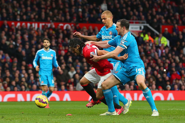 La pena máxima hecha a Falcao, le dio el primer gol en la victoria 2-0 del Manchester United ante el Suderland. Foto: Getty Images