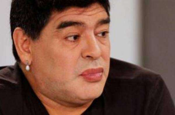 """Diego Maradona durante el programa """"De zurda"""" Foto: Getty Images"""